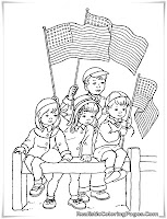 4th of july parade coloring pages for kids printable