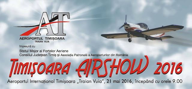 Miting aerian – Timișoara Air Show 21 mai 2016 ora 09