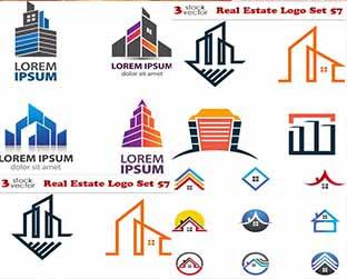 مجموعة لوجوهات عقارية فيكتور Real estate Logos
