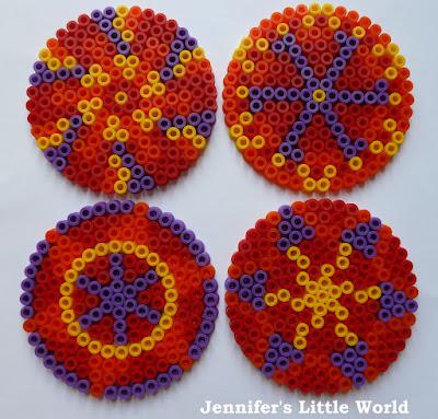 Small Hama bead rangoli for Diwali