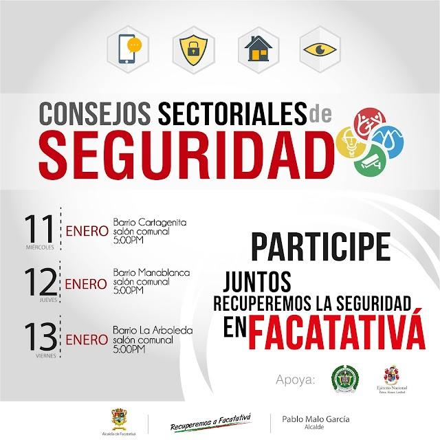 En Facatativá, Consejos de Seguridad en los barrios y nuevo complejo de operación administrativa