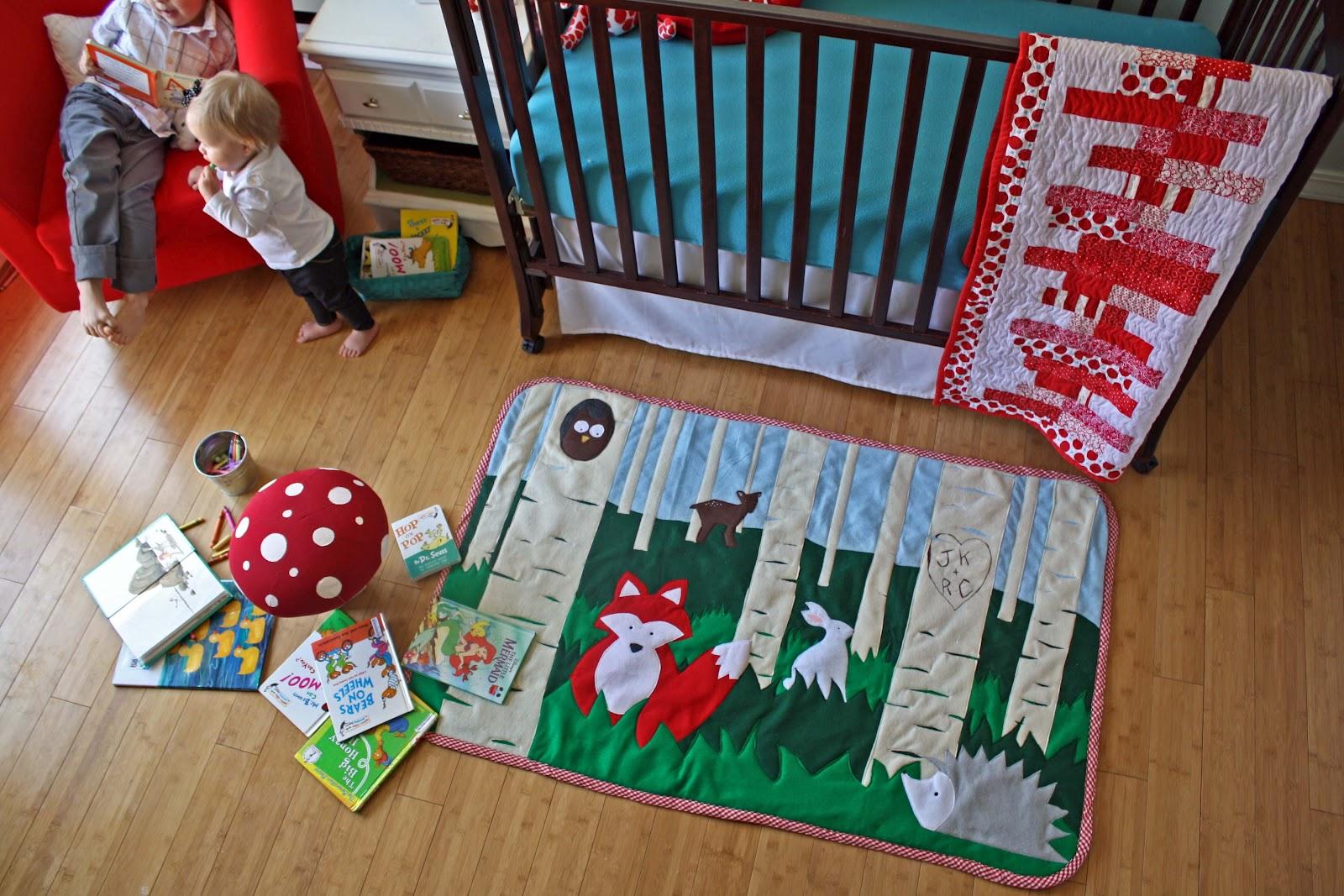 make a whimsical felt rug with template