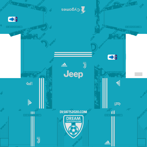 Juventus Kits 2020-2021 Adidas For Dream League Soccer 2019 (Home Goalkeeper)