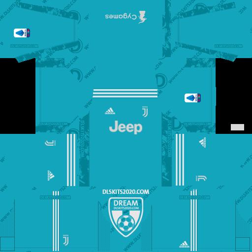 Juventus Kits 2020-2021 Adidas For Dream League Soccer 2019 (Home Goalkeeper)