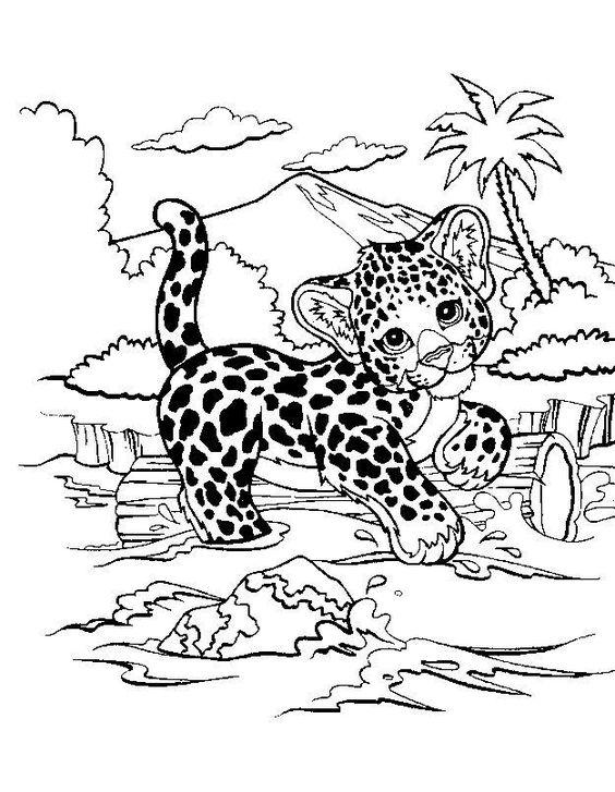 Tranh tô màu con hổ trong rừng