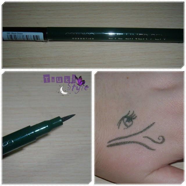 eyeliner black green catrice