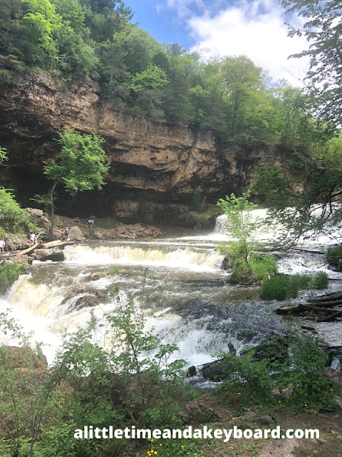 Spectacular moment standing in the gorge at Willow River State Park