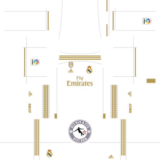 Kits Real Madrid CF 2019 - 2020 Dream League Soccer 2019 & First Touch Soccer