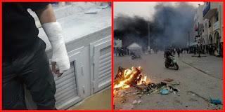 بالصور / المنستير : احتجاجات وحرب شوارع بعد الهزيمة ضد الترجي !