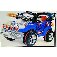 Mobil Mainan Aki MVP 7466 Jeep Polisi XL