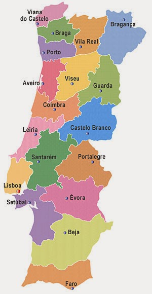 mapa detalhado de portugal Só pra te contar: Mapas de Portugal mapa detalhado de portugal