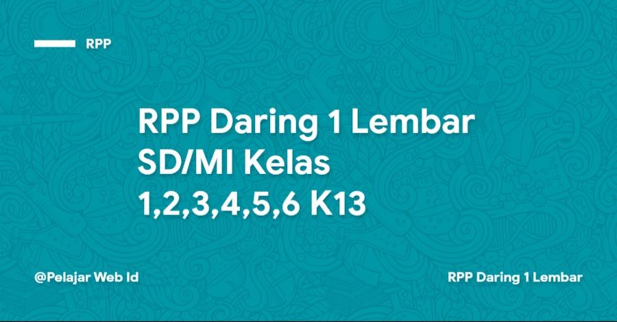 RPP Daring SD/MI Kelas 1,2,3,4,5,6