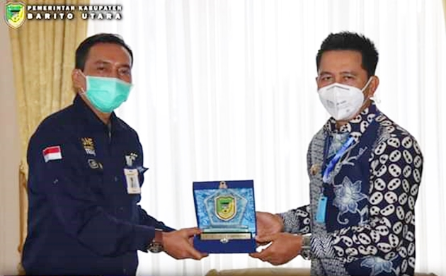 Bupati H Nadalsyah Terima Kunjungan Kepala Bank Mandiri Kalteng