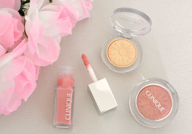 Clinique Ginger Pop blush, Vanilla Pop eyeshadow and Wink Pop lip lacquer, Clinque, Review