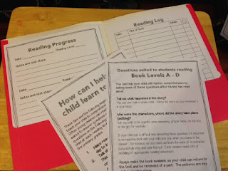A take home reading log resource package to support students and parents at home when reading