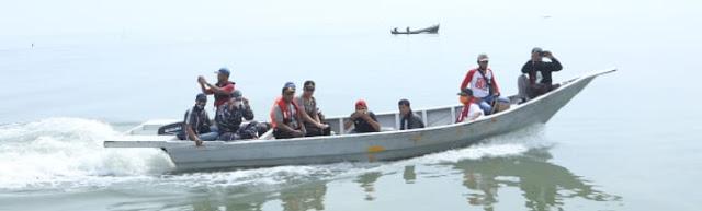 Bupati Asahan Bersama Tim Gugus Tugas Covid 19 Patroli Laut Asahan