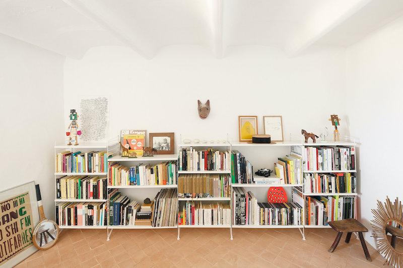 Habitación convertida en biblioteca