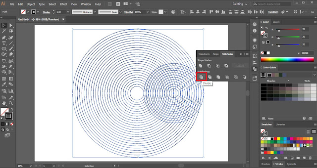 Fingerprint Design in Adobe Illustrator