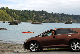 Pat with Our Toyota Venza - Trididad, California