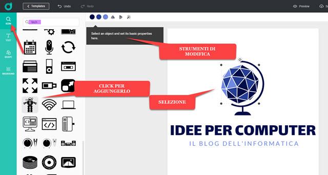 editor di logo online