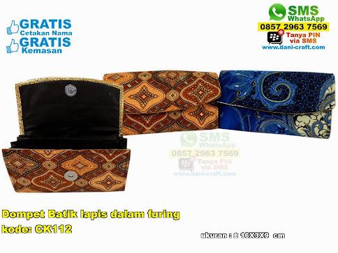 Dompet Batik Lapis Dalam Furing
