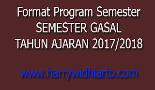 Format Program Semester Gasal Tahun Pelajaran 2017/2018