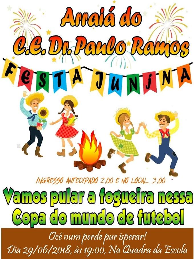 Nesta sexta-feira acontece o Tradicional Arraiá do Paulo Ramos
