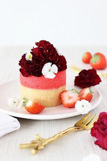 Aardbeienbavarois taartjes