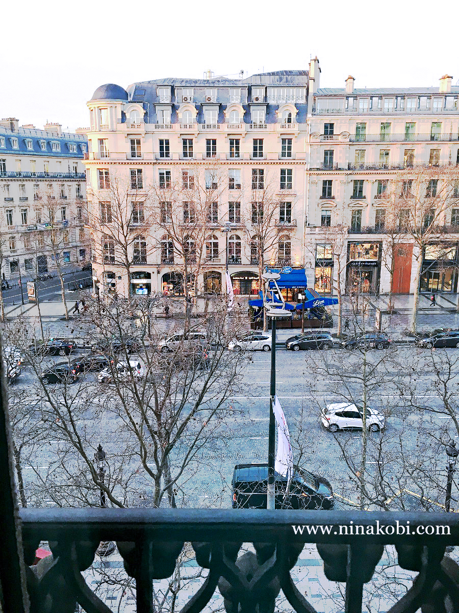 The view from Marriott Hotel on Avenue des Champs-Elysees, Paris, France, ninikobi travels to Paris