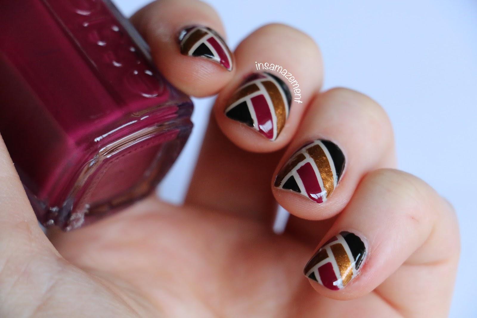 In SAMazement: Art Deco Ribbon Nail Art Tutorial