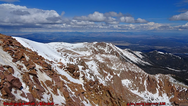 Colorado mountains View from Pikes Peak