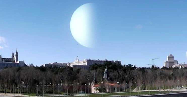 Uranüs'ün Ay kadar yakın olması depremleri tetikler ve volkanik patlamalara yol açardı.