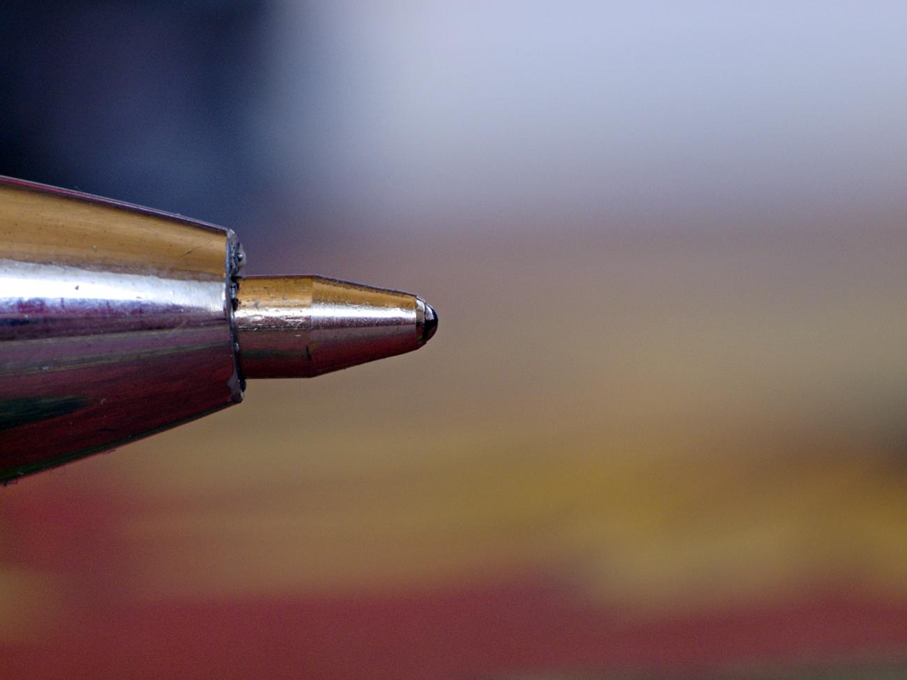 Kugelschreiberspitze in ganz groß