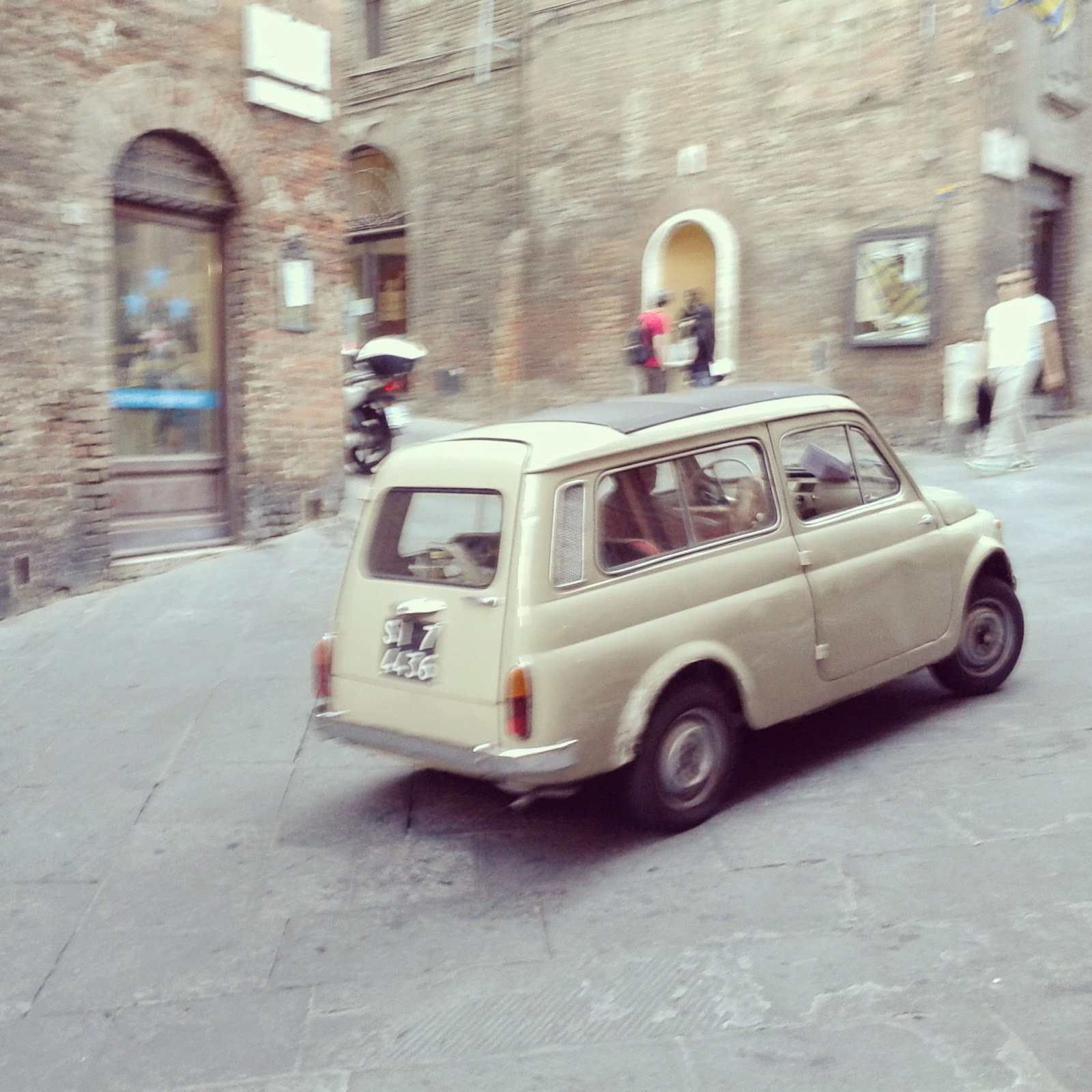 Fiat spotting in Siena's backstreets