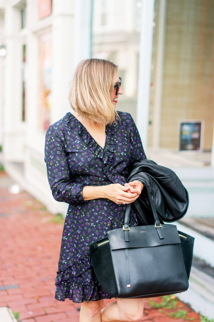 J. McLaughlin floral wrap dress
