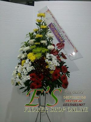 Standing flower peresmian dan pembukaan kantor
