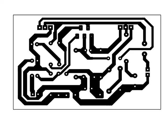 tda2030 with transistor Circuit pcb