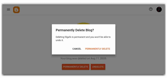 Delete A Blog On Blogger New Interface