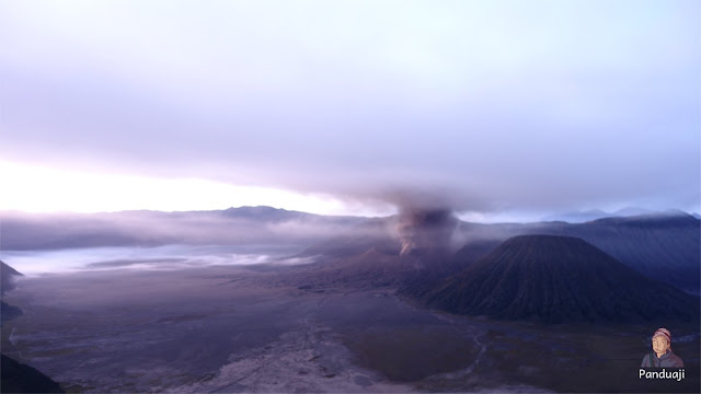 Sunrise di Bromo yang gagal