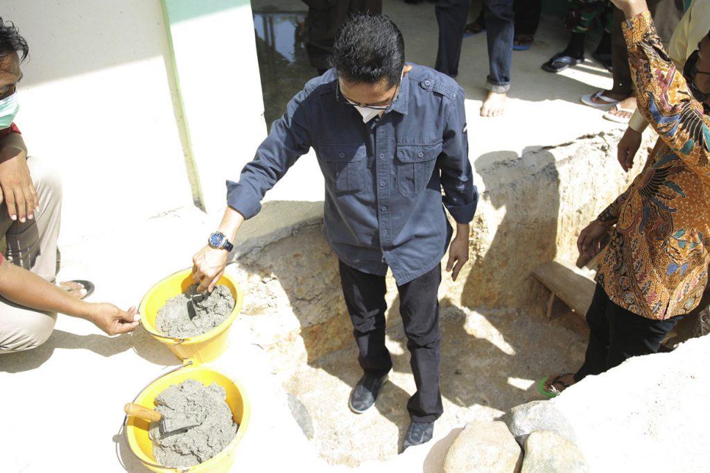 Hadiri Peletakan Batu Pertama Pembangunan Masjid Rumaisyah, Amsakar Ajak Umat  Memakmurkan Mesjid