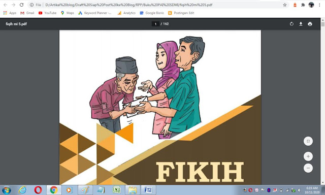 Buku fikih kelas 5 sd/mi sesuai kma 183 tahun 2019
