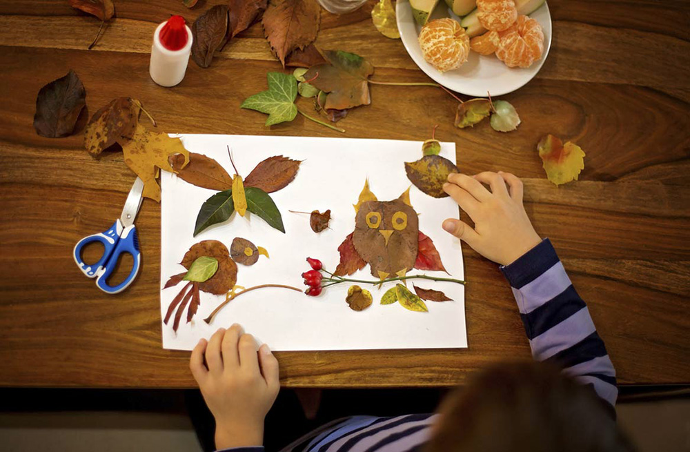 Manualidades Vistosas.30 Manualidades Con Hojas Naturales Para Hacer En Familia