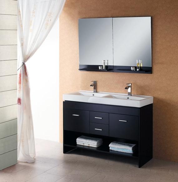 Double sink vanities for small bathrooms ayanahouse - Double sinks in a small bathroom ...