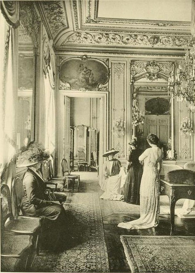 Edwardian paris fashion houses 45 amazing vintage photos for Salon mode paris