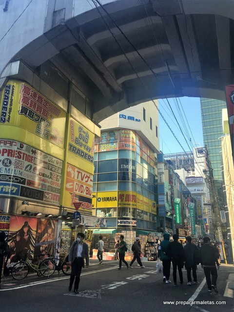 barrio de manga y electrónica en Tokio Japón