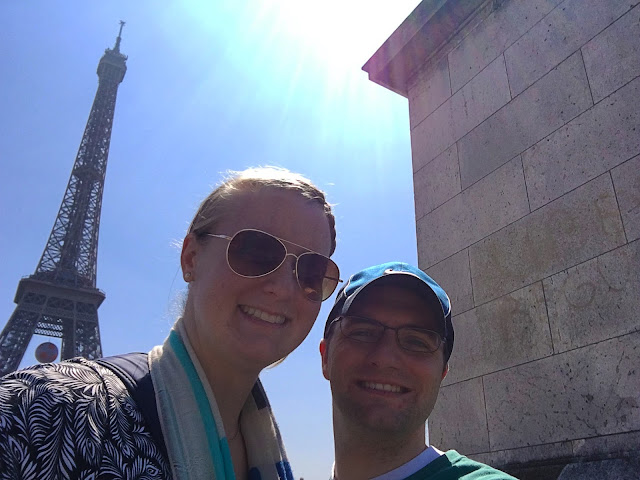 Meagan and Ben with the Eiffel Tower
