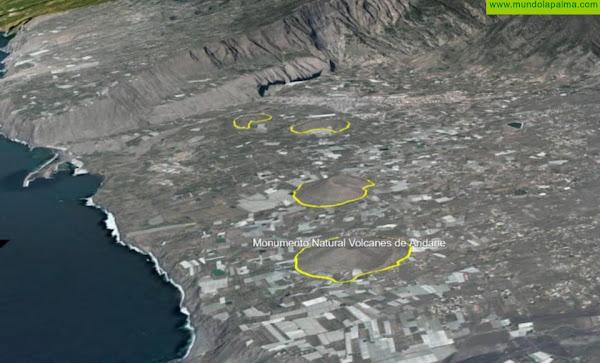 El Cabildo aprueba de forma inicial las Normas de Conservación del Monumento Natural Volcanes de Aridane