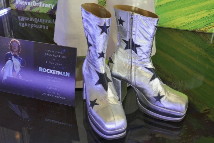 Rocketman Elton John stars platform shoes