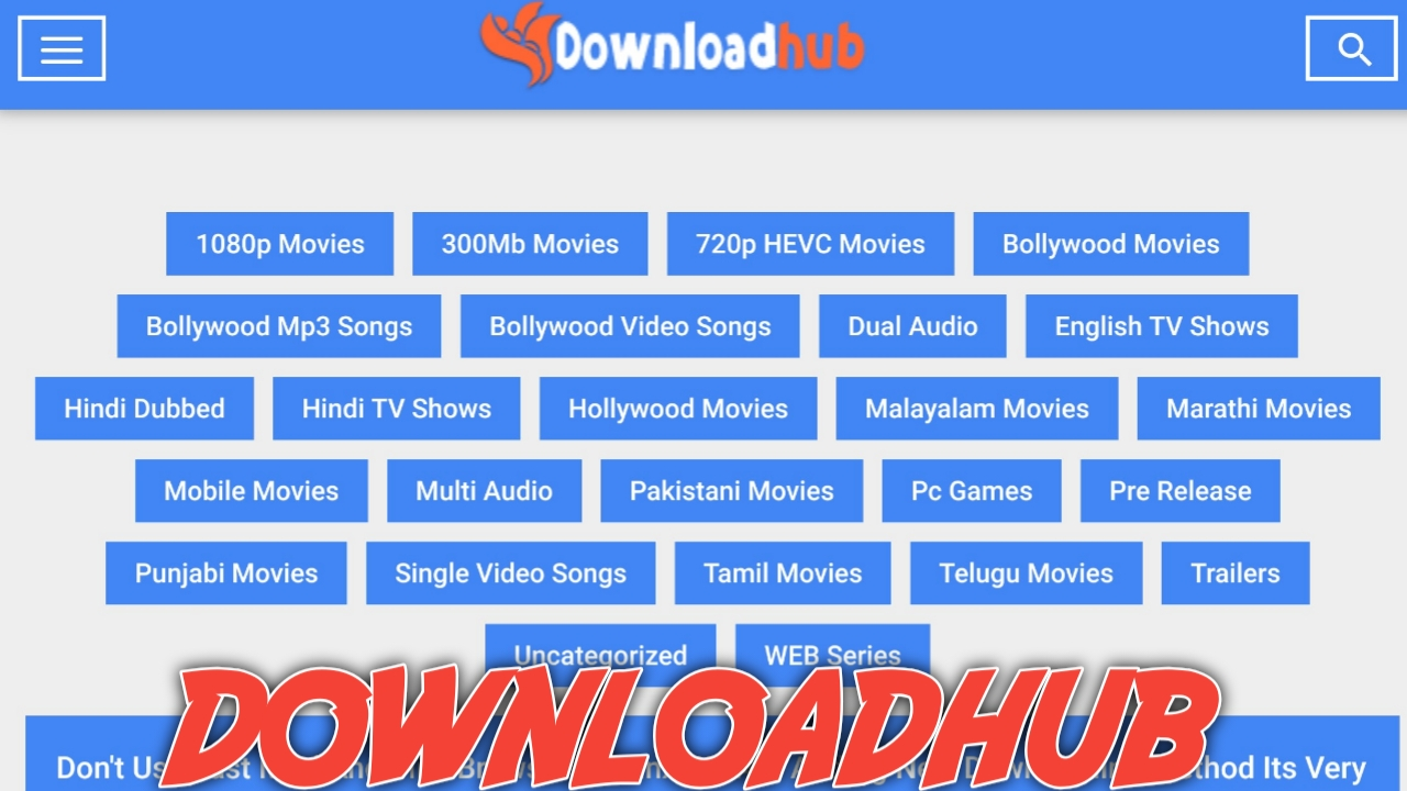 Downloadhub 2020 download 300 mb Hollywood and bollywood movies in 2021