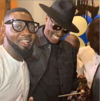 Ramsey Noah, Tuface And Other Celebrities Storms AY Surprise 48th Birthday Dinner Party (VIDEO)